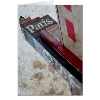 Paris marquee card