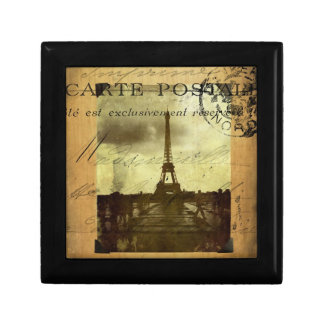 París matasellada joyero cuadrado pequeño