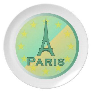 Paris Melamine Plate