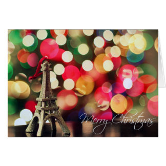 Paris merry christmas and happy new year card