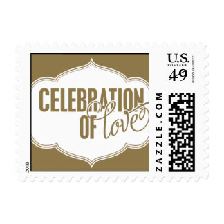 Paris Metro - Celebration of Love - Gold Postage Stamps