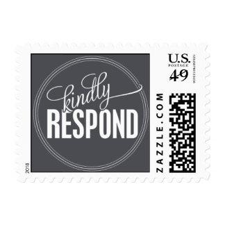 Paris Metro - Kindly Respond - Gray Stamp