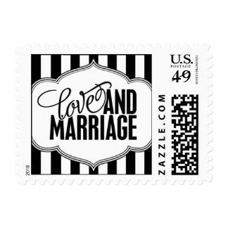Paris Metro - Love & Marriage - Black Postage