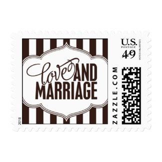 Paris Metro - Love & Marriage - Brown Postage