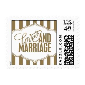 Paris Metro - Love & Marriage - Gold Postage
