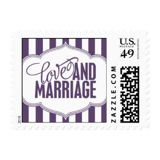 Paris Metro - Love & Marriage - Purple Postage