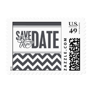 Paris Metro - Save the Date - Gray Postage Stamps