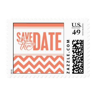 Paris Metro - Save the Date - Pink Postage Stamps