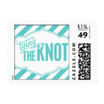 Paris Metro - Tying the Knot - Blue Postage Stamps