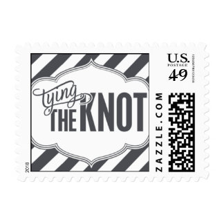 Paris Metro - Tying the Knot - Gray Postage Stamps