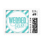 Paris Metro - Wedded Bliss - Blue Postage Stamps