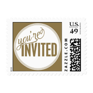 Paris Metro - You're Invited - Gold Stamps
