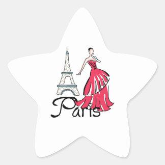 PARIS MODEL STAR STICKER