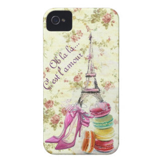 Paris mon amour iPhone 4 case