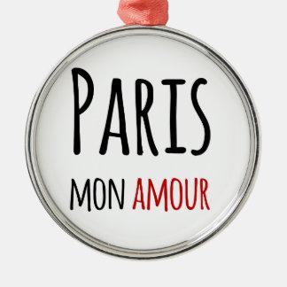 Paris, Mon amour Metal Ornament