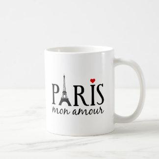 Paris mon amour with Eiffel tower Classic White Coffee Mug