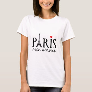 Paris mon amour with Eiffel tower T-Shirt