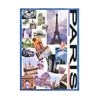 Paris montage canvas print