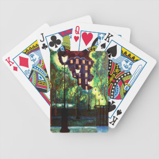 Paris Montmartre Stairway From Sacre Coer Bicycle Playing Cards