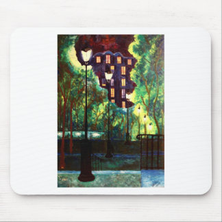Paris Montmartre Stairway From Sacre Coer Mouse Pad