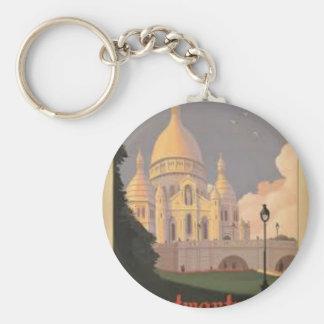 Paris Montmartre Vintage Keychain