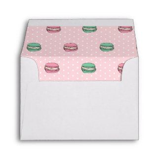 Paris Moon Macaron and polkadots Envelopes