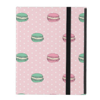 Paris Moon Macaron and polkadots iPad Case