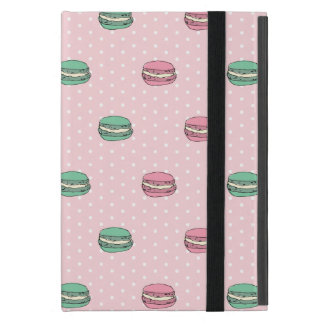 Paris Moon Macaron and polkadots iPad Mini Covers