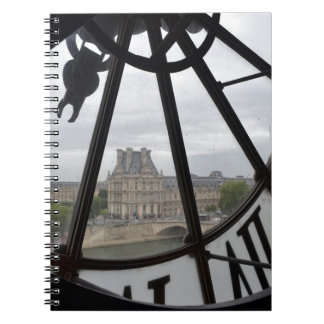 Paris- Musee de Orsay Clock_ jpg Spiral Note Books
