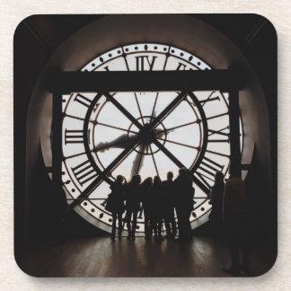 Paris Musee d'Orsay Clock Photo Coasters