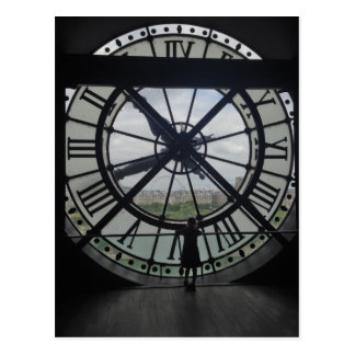 Paris Museum D'Orsay Clock Postcard
