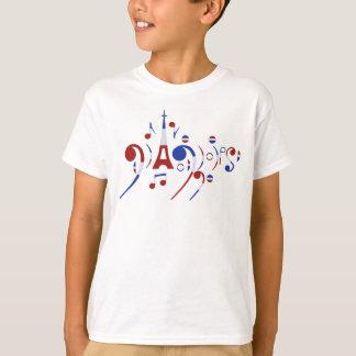 Paris Musical Notes T-Shirt