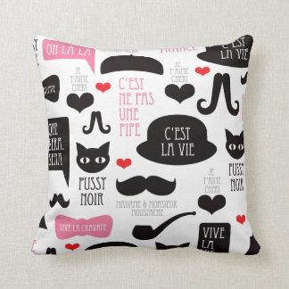 Paris mustache moustache pillow