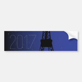 Paris Night 2017 Bumper Sticker