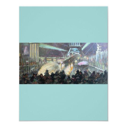 Paris Night Fred Money Painting Card