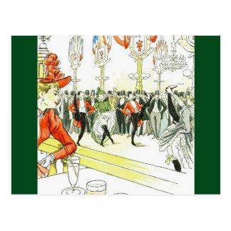 Paris Night Life ~Pierre Vidal ~*Change Mat Color Postcard