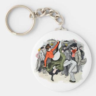 Paris Nightlife no. 2 Basic Round Button Keychain