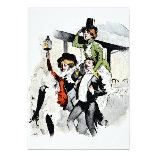 Paris Nightlife no.4 5x7 Paper Invitation Card