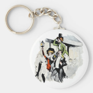 Paris Nightlife no. 4 Basic Round Button Keychain