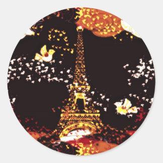 Paris Nights Classic Round Sticker