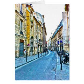Paris note card featuring Le Marais.