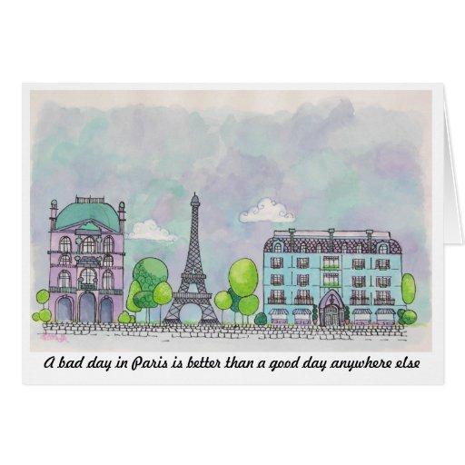 París Notecard Felicitaciones