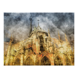 Paris - Notre-Dame Cathedral Poster