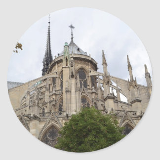 Paris-Notre Dame Flying Buttresses.jpg Classic Round Sticker