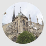 Paris-Notre Dame Flying Buttresses.jpg Round Stickers
