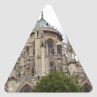 Paris-Notre Dame Flying Buttresses.jpg Triangle Sticker