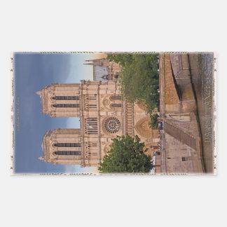 Paris - Notre Dame Rectangular Sticker