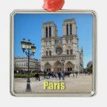 PARIS Notre Dame Silver-Colored Square Decoration