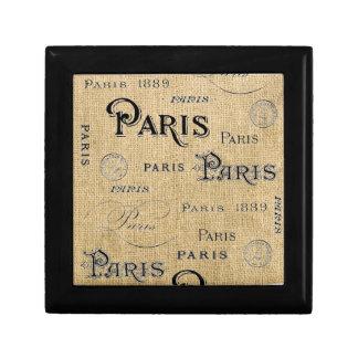 Paris on Burlap Gift Box