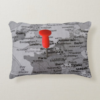 Paris on the Map Accent Pillow